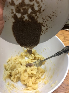 Mixing in flax seed mixture